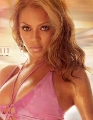 Beyonce Knowles in pink bikini