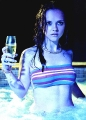 Christina Ricci drinking in the jacuzzi